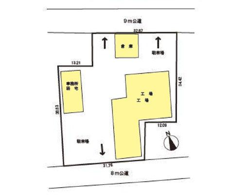 加須市 東武伊勢崎線鷲宮駅の売工場・売倉庫画像(1)