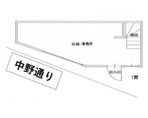 中野区 JR中央線中野駅の売店舗・売事務所画像(1)