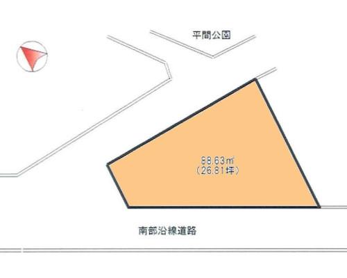 川崎市中原区 JR南武線平間駅の売事業用地画像(1)