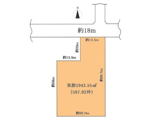 新座市 西武池袋線清瀬駅の売事業用地画像(1)