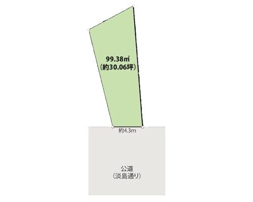 世田谷区 東急田園都市線三軒茶屋駅の売事業用地画像(1)