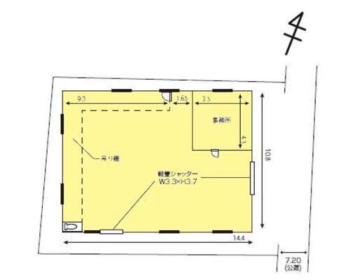 柏市 JR常磐線北柏駅の貸工場・貸倉庫画像(1)