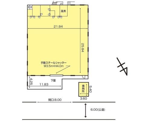 八街市 JR総武本線八街駅の貸倉庫画像(1)