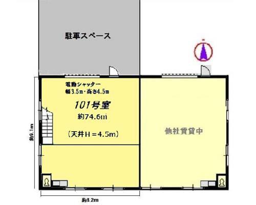 横浜市港北区 ブルーライン仲町台駅の貸工場・貸倉庫画像(1)
