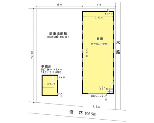 三郷市 JR武蔵野線新三郷駅の貸倉庫画像(1)