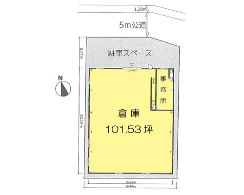 さいたま市緑区 JR武蔵野線東浦和駅の貸倉庫画像(1)