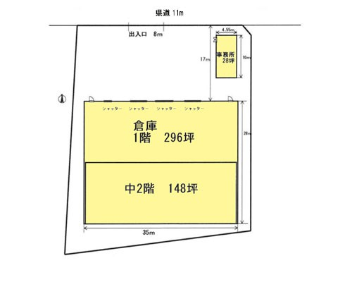 越谷市 JR武蔵野線越谷レイクタウン駅の貸倉庫画像(1)