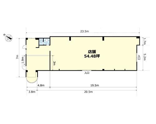 所沢市 西武新宿線所沢駅の貸倉庫画像(1)