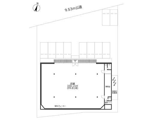 狭山市 西武新宿線入曽駅の貸店舗画像(1)