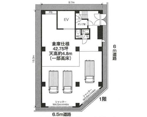 江東区 JR総武線亀戸駅の貸倉庫画像(1)
