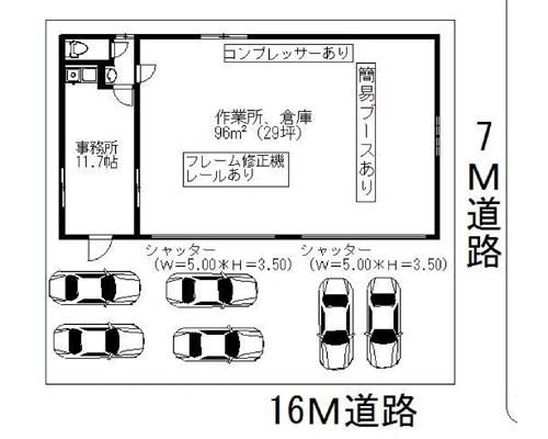 江戸川区 都営新宿線篠崎駅の貸工場・貸倉庫画像(1)