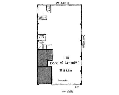 墨田区 都営浅草線本所吾妻橋駅の貸倉庫画像(1)