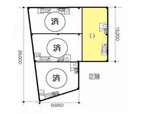 板橋区 都営三田線西台駅の貸工場・貸倉庫画像(2)