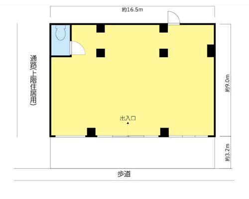 八王子市 多摩都市モノレール大塚・帝京大学駅の貸事務所画像(1)