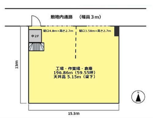 大田区 京急空港線大鳥居駅の貸工場・貸倉庫画像(1)