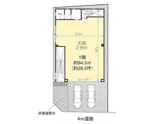 板橋区 都営三田線本蓮沼駅の貸工場・貸倉庫画像(1)