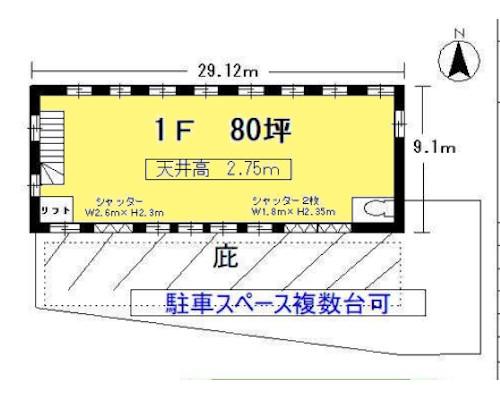 武蔵村山市 多摩都市モノレール上北台駅の貸倉庫画像(1)