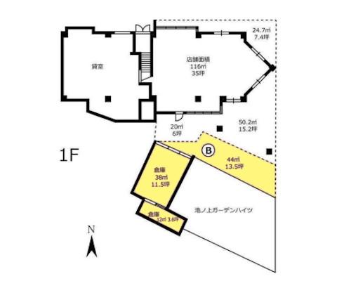 目黒区 東急東横線学芸大学駅の貸倉庫画像(1)