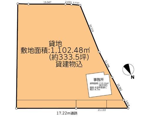 千葉市花見川区 京成本線実籾駅の貸地画像(1)
