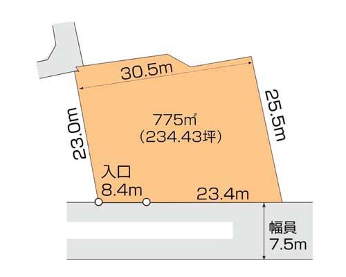 厚木市 小田急線本厚木駅の貸地画像(1)