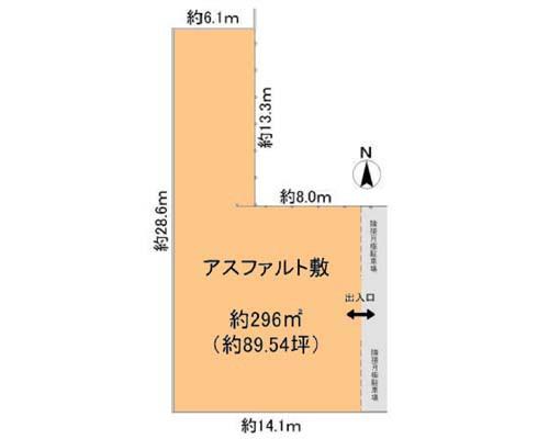 横浜市港北区 ブルーライン新羽駅の貸地画像(1)
