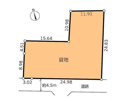 横浜市瀬谷区 相鉄線三ツ境駅の貸地画像(1)
