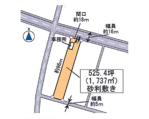 厚木市 小田急小田原線愛甲石田駅の貸地画像(1)