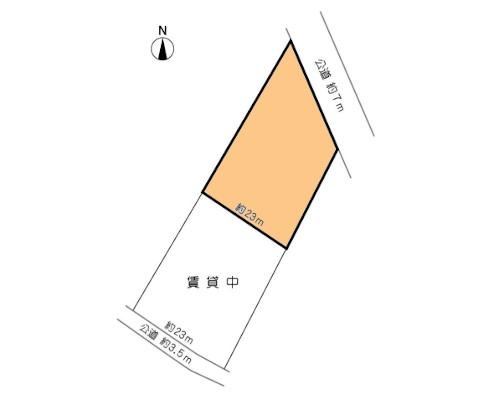 座間市 小田急江ノ島線南林間駅の貸地画像(1)