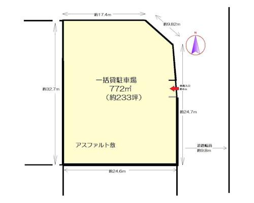 横浜市港北区 ブルーライン北新横浜駅の貸地画像(1)