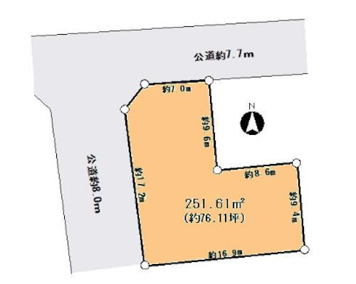 足立区 日暮里・舎人ライナー谷在家駅の貸地画像(1)